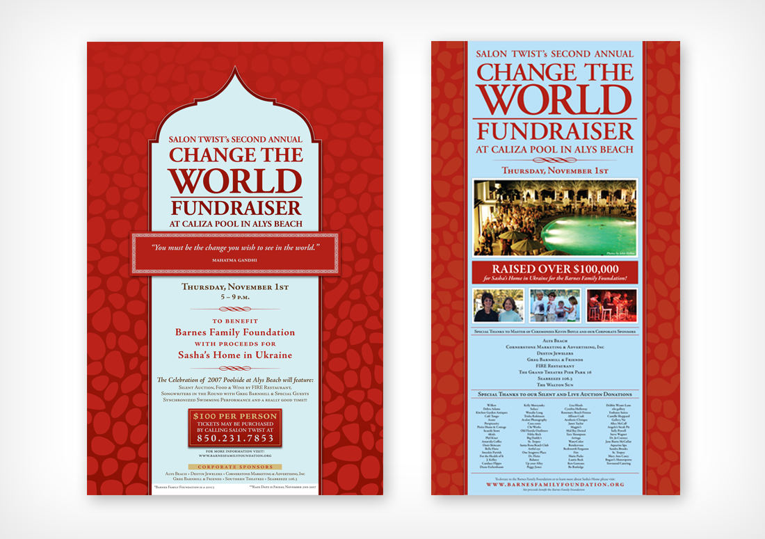 Change the World Fundraiser Poster