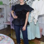 Actress Isabelle Fuhrman attends the opening of Christian Siriano's new store, The Curated, hosted by Alicia Silverstone and sponsored by VIE Magazine on April 17, 2018, in New York City.
