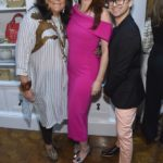 Fern Mallis, Debra Messing, and Christian Siriano attend the opening of Christian Siriano's new store, The Curated, hosted by Alicia Silverstone and sponsored by VIE Magazine on April 17, 2018, in New York City.