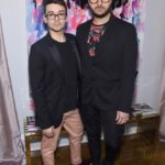 Christian Siriano and Brad Walsh attend the opening of Christian Siriano's new store, The Curated, hosted by Alicia Silverstone and sponsored by VIE Magazine on April 17, 2018, in New York City.