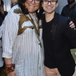 Fern Mallis and Christian Siriano attend the opening of Christian Siriano's new store, The Curated, hosted by Alicia Silverstone and sponsored by VIE Magazine on April 17, 2018, in New York City.