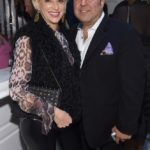 Dorinda Medley and John Mahdessian attend the opening of Christian Siriano's new store, The Curated, hosted by Alicia Silverstone and sponsored by VIE Magazine on April 17, 2018, in New York City.