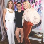 The Idea Boutique's art director, Tracey Thomas, fashion designer Christian Siriano and The Idea Boutique's owner/founder Lisa Burwell attend the opening of Christian Siriano's new store, The Curated, hosted by Alicia Silverstone and sponsored by VIE Magazine on April 17, 2018, in New York City.