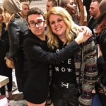 Fashion designer Christian Siriano and The Idea Boutique's communications director Jordan Staggs at the opening of Christian Siriano's new store, The Curated, hosted by Alicia Silverstone and sponsored by VIE Magazine on April 17, 2018, in New York City.