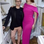 Fashion designer Christian Siriano and actress Debra Messing attend the opening of Christian Siriano's new store, The Curated NYC, hosted by Alicia Silverstone and sponsored by VIE Magazine on April 17, 2018, in New York City.