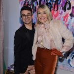 Fashion designer Christian Siriano and The Idea Boutique's owner/founder Lisa Burwell attend the opening of Christian Siriano's new store, The Curated, hosted by Alicia Silverstone and sponsored by VIE Magazine on April 17, 2018, in New York City.