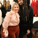 The Idea Boutique's owner/founder Lisa Burwell and celebrity stylist Tyrone Hunter attend the opening of Christian Siriano's new store, The Curated, hosted by Alicia Silverstone and sponsored by VIE Magazine on April 17, 2018, in New York City