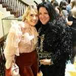 The Idea Boutique's owner/founder Lisa Burwell and pop artist Ashley Longshore attend the opening of Christian Siriano's new store, The Curated, hosted by Alicia Silverstone and sponsored by VIE Magazine on April 17, 2018, in New York City