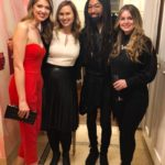 Hannah Vermillion, Crystal Hamon, Tyrone Hunter, and Brooke Miller at the opening of Christian Siriano's new store, The Curated, hosted by Alicia Silverstone and sponsored by VIE Magazine on April 17, 2018, in New York City.