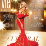 Cover Celebrating Sinfonia Gulf Coast's 10-Year Anniversary, featuring Kristin Chenoweth and Christian Siriano's Designs Photoshoot - November/December 2015 Cultural Issue