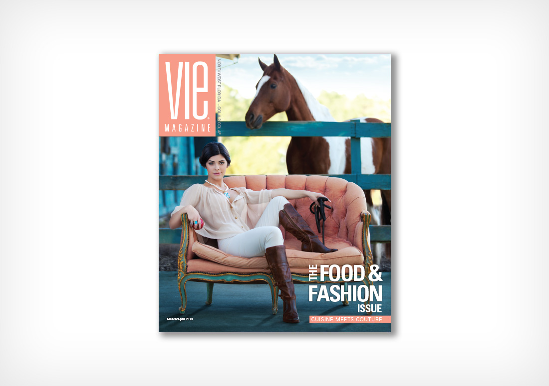 April/March cover of VIE Magazine