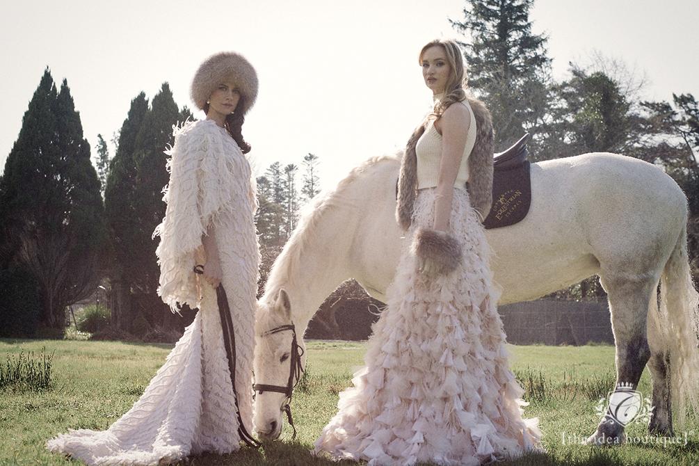 Connemara Life Irish Models wearing Christian Siriano Designer Gowns