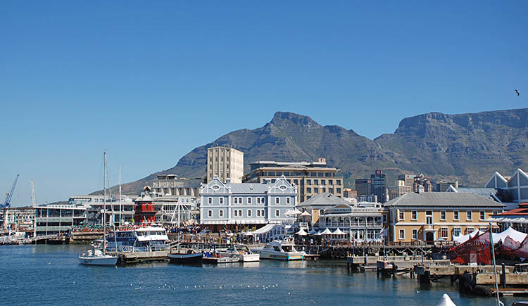Waterfront View of Capetown South Africa