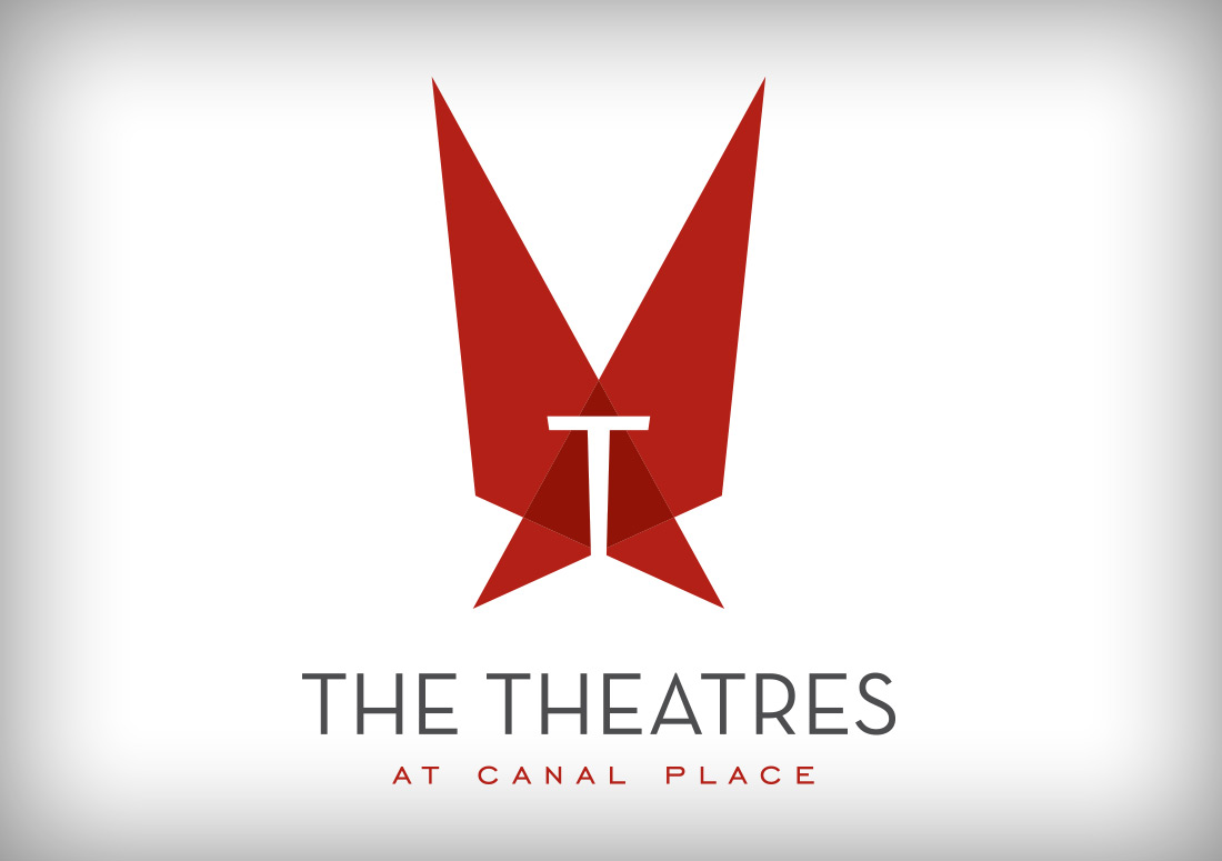 The Theatres at Canal Place logo branding new orleans southern theatres