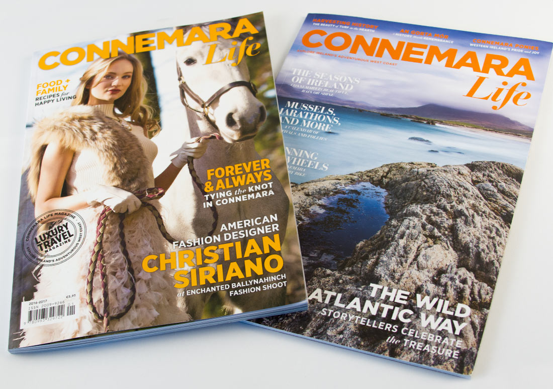 Connemara Life Magazines 2015 and 2016 publishing design branding publication