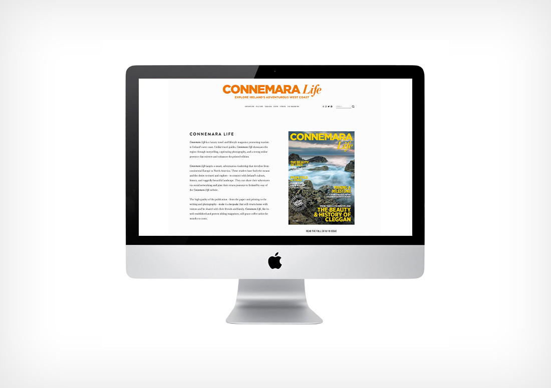 Connemara Life website