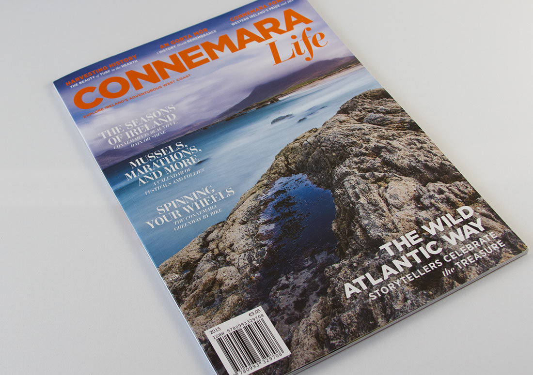 Connemara Life Magazine Cover 2015 branding publishing design publication