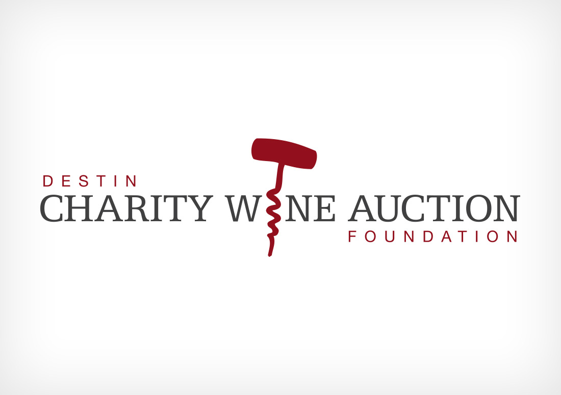 Destin Charity Wine Auction Foundation Logo branding design