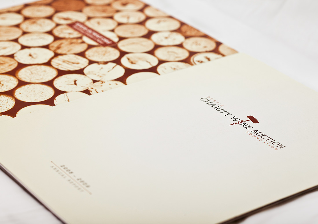 Destin Charity Wine Auction Foundation Booklet branding design print