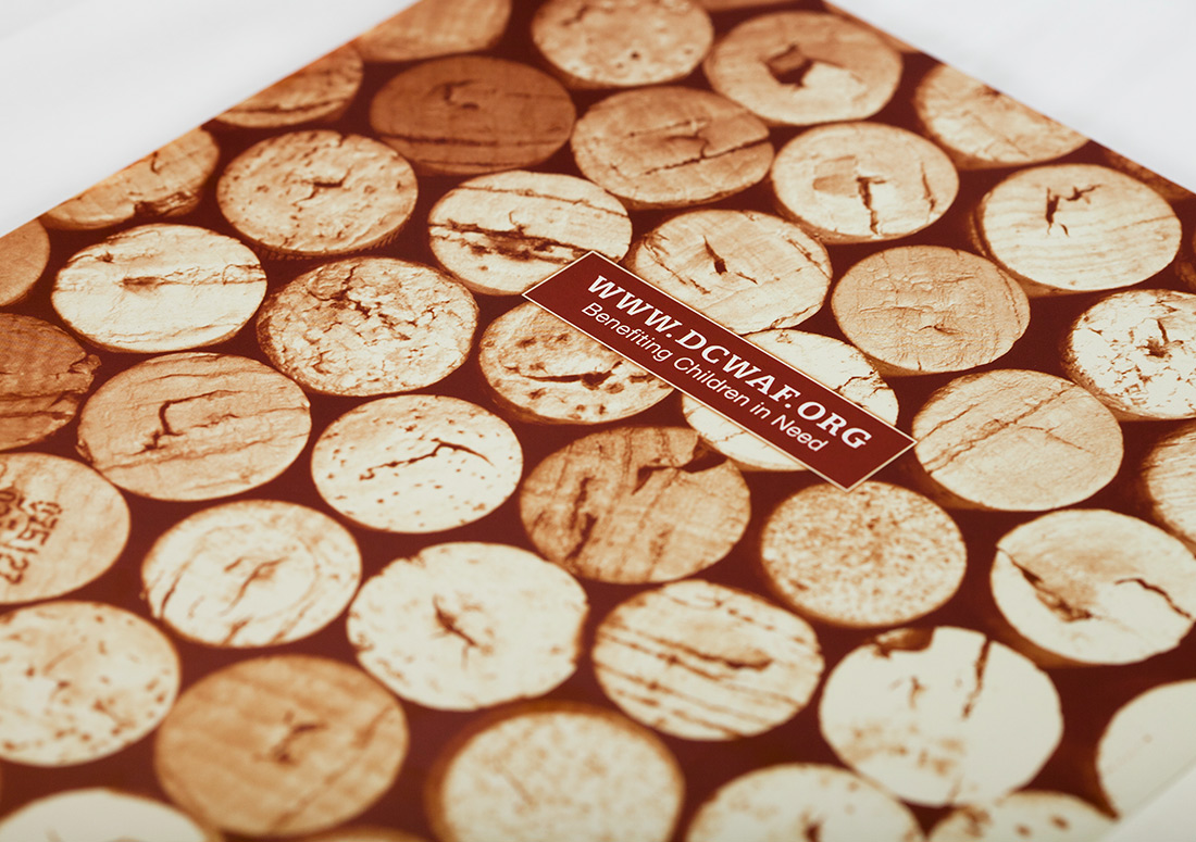 Destin Charity Wine Auction Foundation Booklet design branding print
