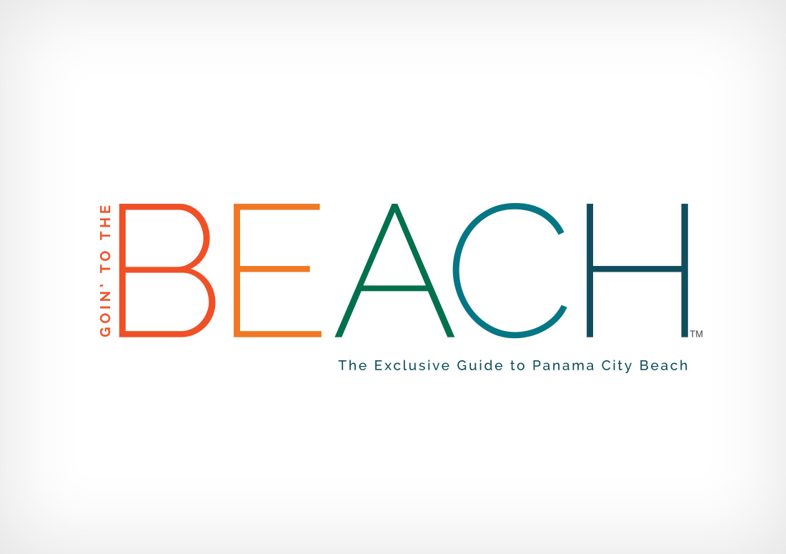Resort Collection Goin' to the Beach Magazine Masthead logo branding design typography