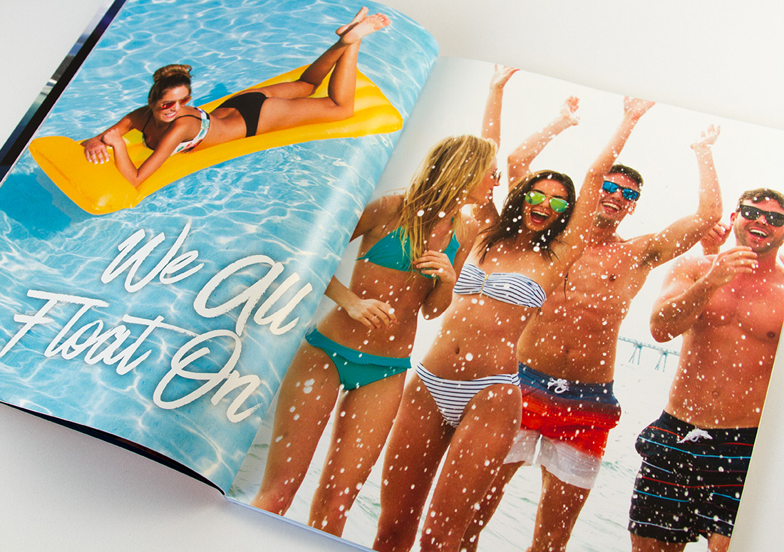Resort Collection Goin' to the Beach Magazine Interior Pages branding publishing publication design