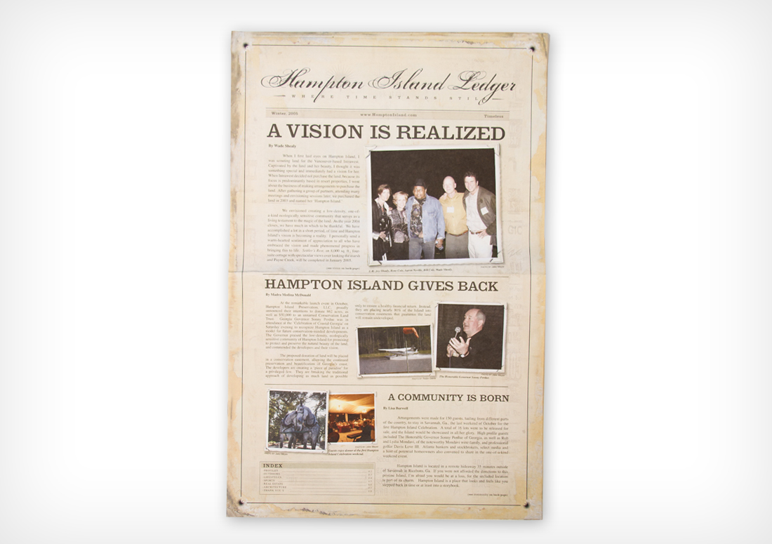 Hampton Island Ledger produced and published by The Idea Boutique