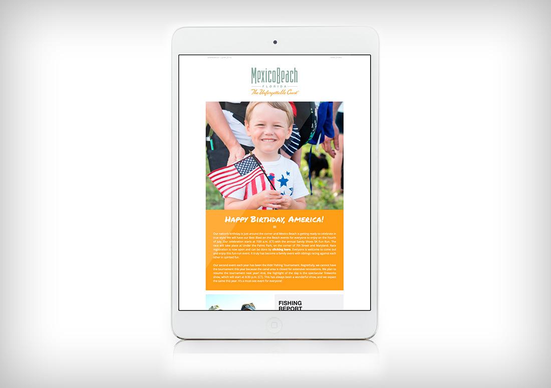Mexico Beach Newsletter Eblast web email design branding