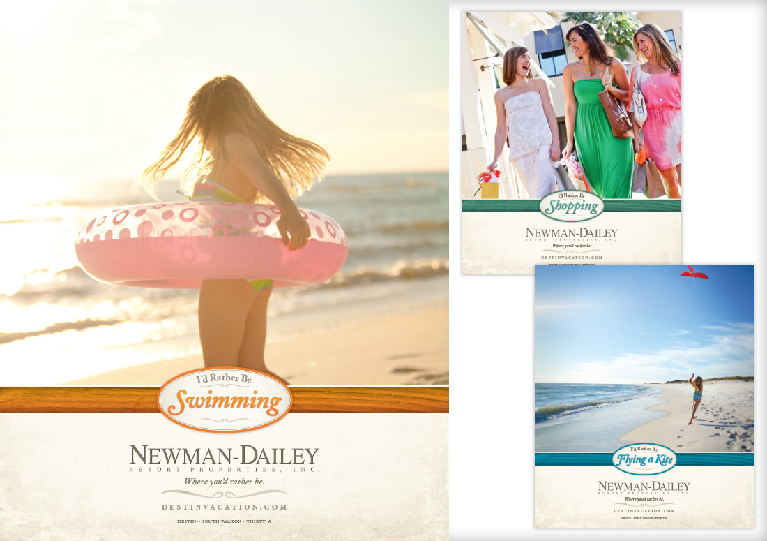 Newman Dailey Print Ad Campaign branding real estate branding publishing