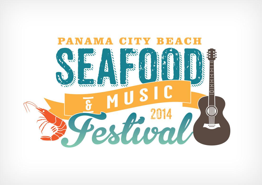 Panama City Beach 2014 Seafood Festival Logo design branding