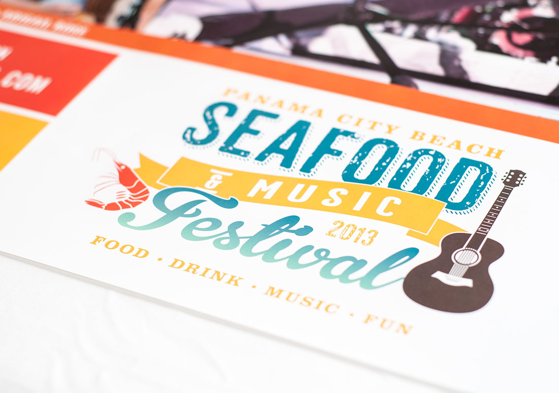 Panama City Beach 2013 Seafood Festival Poster print advertising design