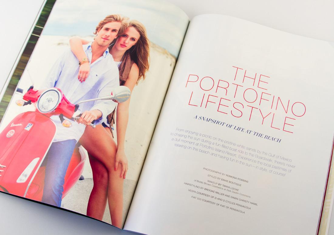 Portofino Life Magazine Spread premier island management group publishing branding print