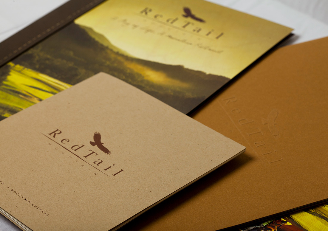 RedTail Mountain Collateral branding publishing packaging