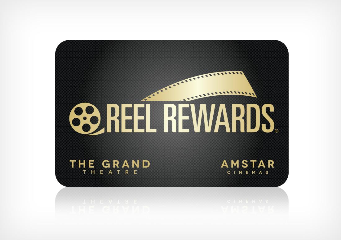 Reel Rewards Card branding design
