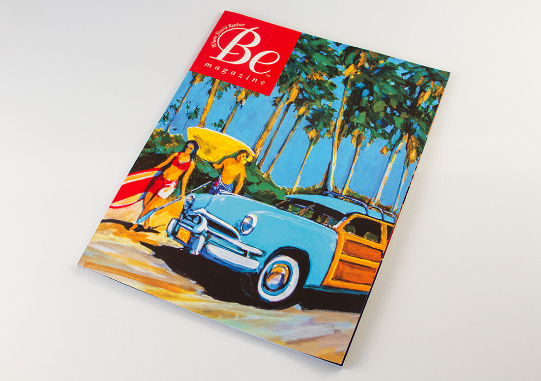 Be Magazine real estate publishing publication branding design