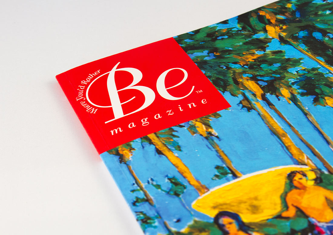 Be Magazine Logo real estate publishing publication branding design