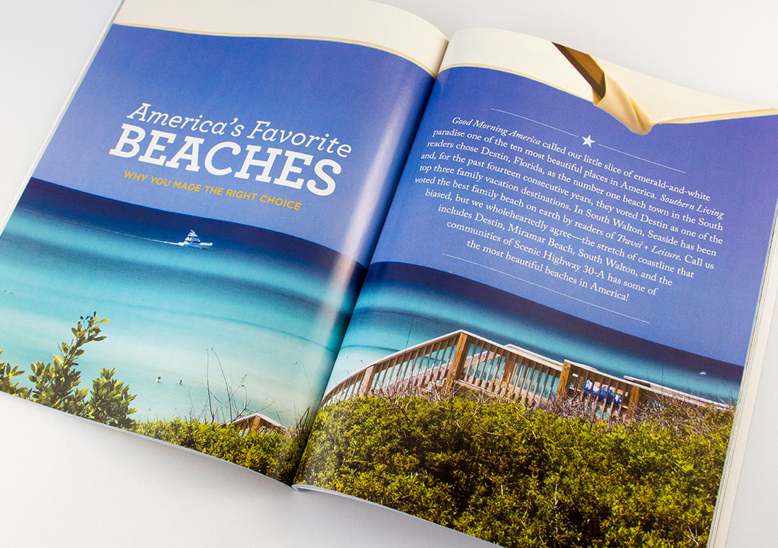 Be Magazine Interior Pages real estate publishing publication branding design