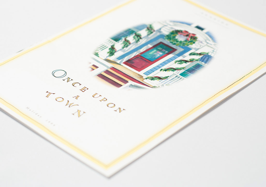 Seaside Florida Brochure illustrations branding watercolor publishing