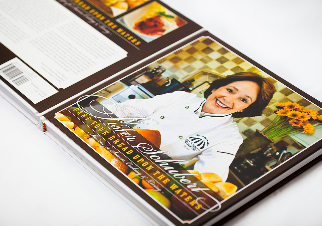 Sister Schubert Cookbook Cast Your Bread Upon the Waters publishing branding design cook book