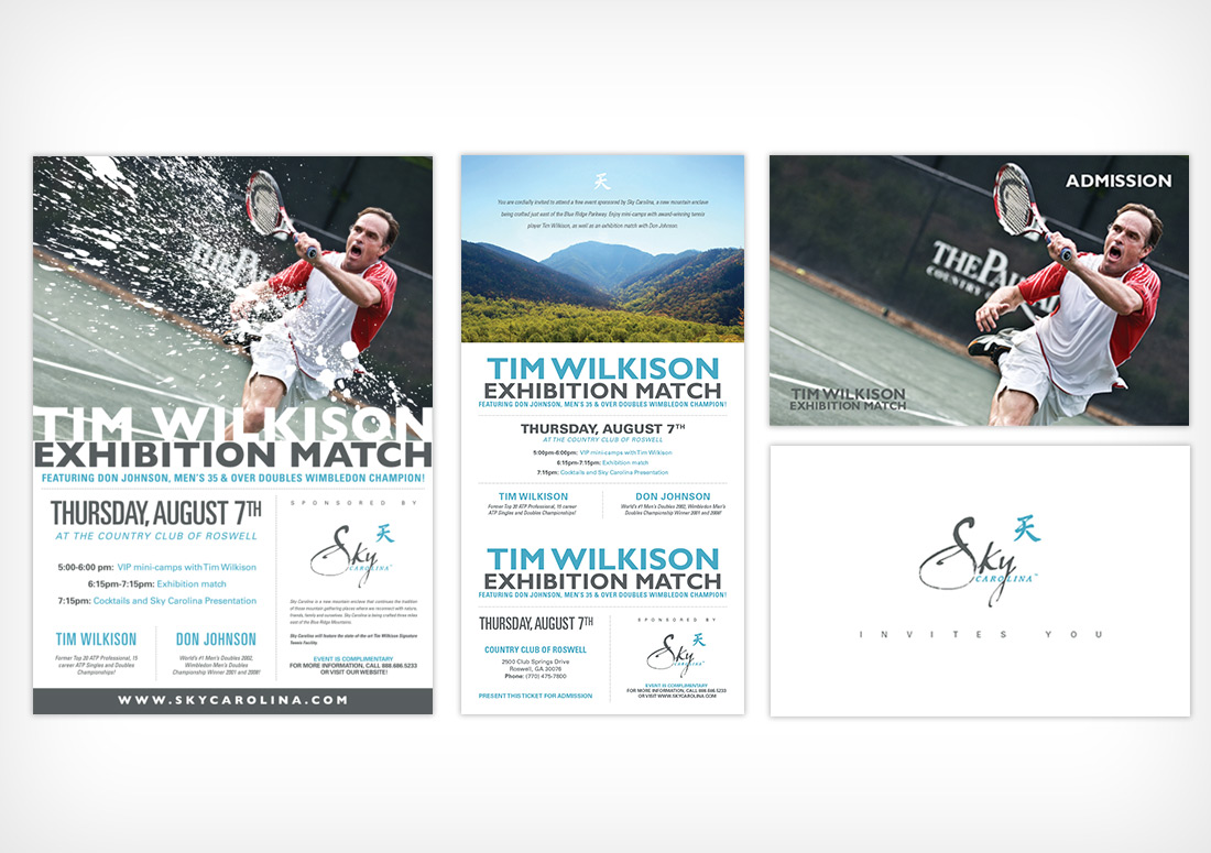 Sky Carolina Event Poster and Direct Mailer Invitation design branding