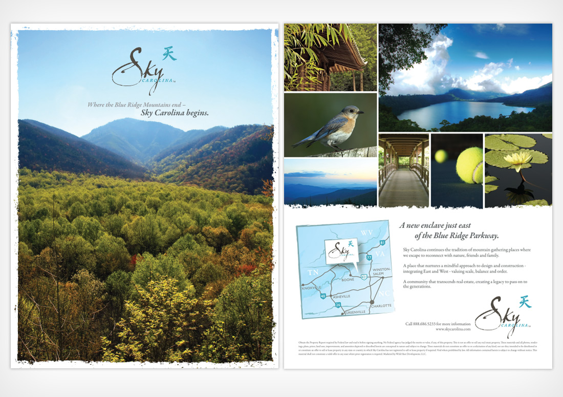 Sky Carolina Print Ad Tip In advertising branding design