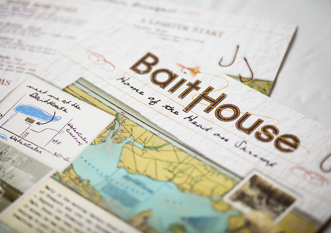 St Joe Bait House Menu branding design print