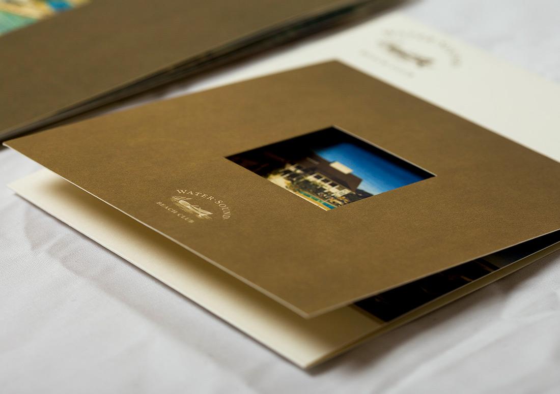 St Joe Water Sound Brochure branding design print