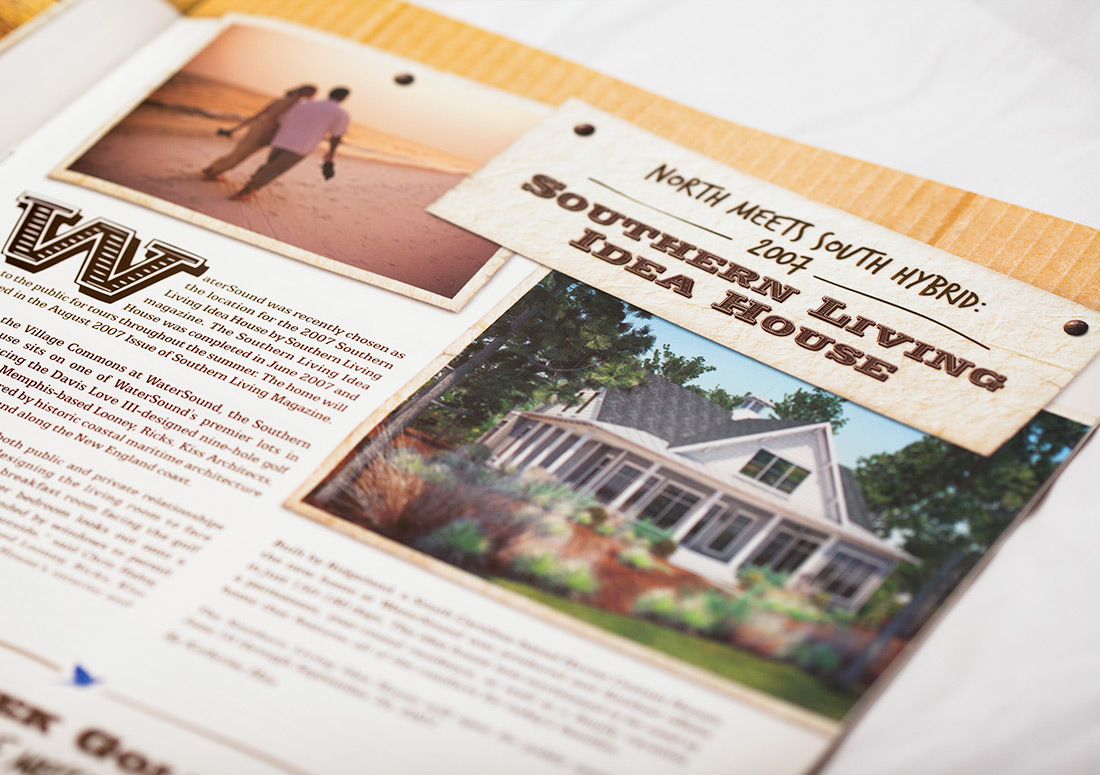 St Joe Brand Tip In branding design print
