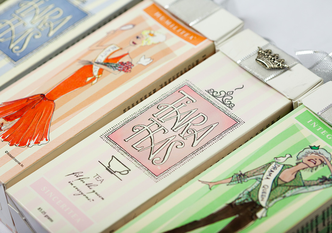Tiara Teas Packaging Design branding illustration product