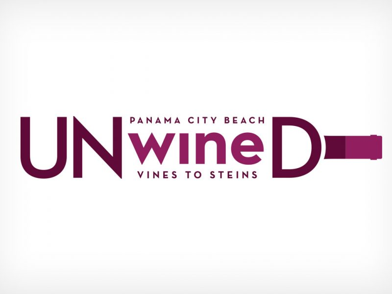 Panama City Beach UNwineD Logo branding design