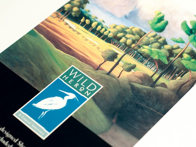 Wild Heron Rack Card design branding