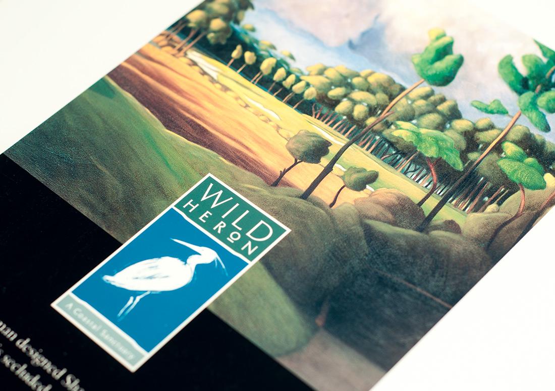 Wild Heron Rack Card design branding