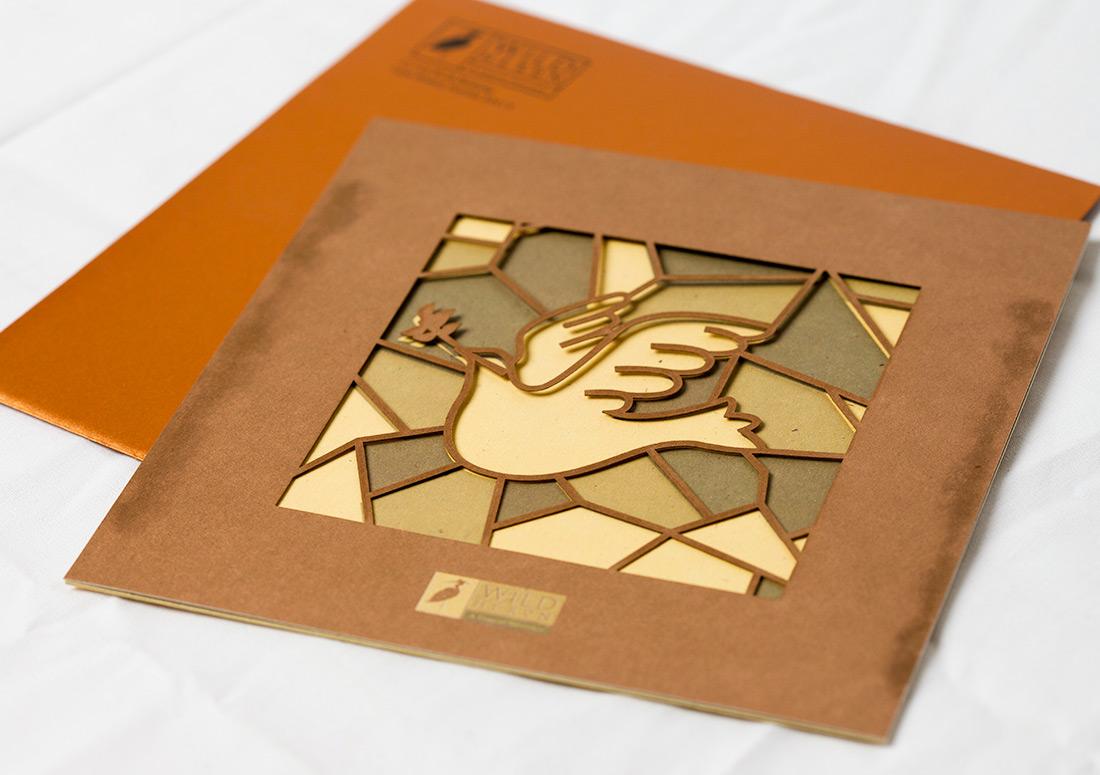 Wild Heron Invitation branding design