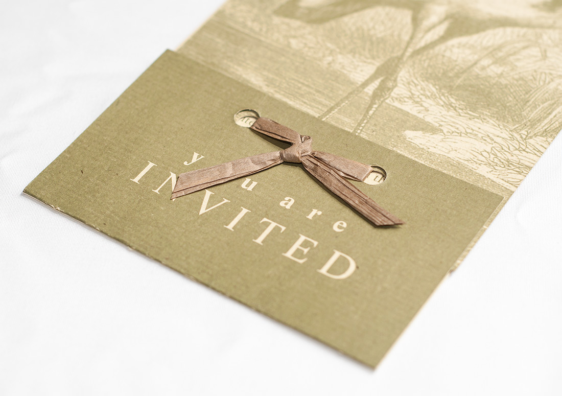 Wild Heron Invitation branding design